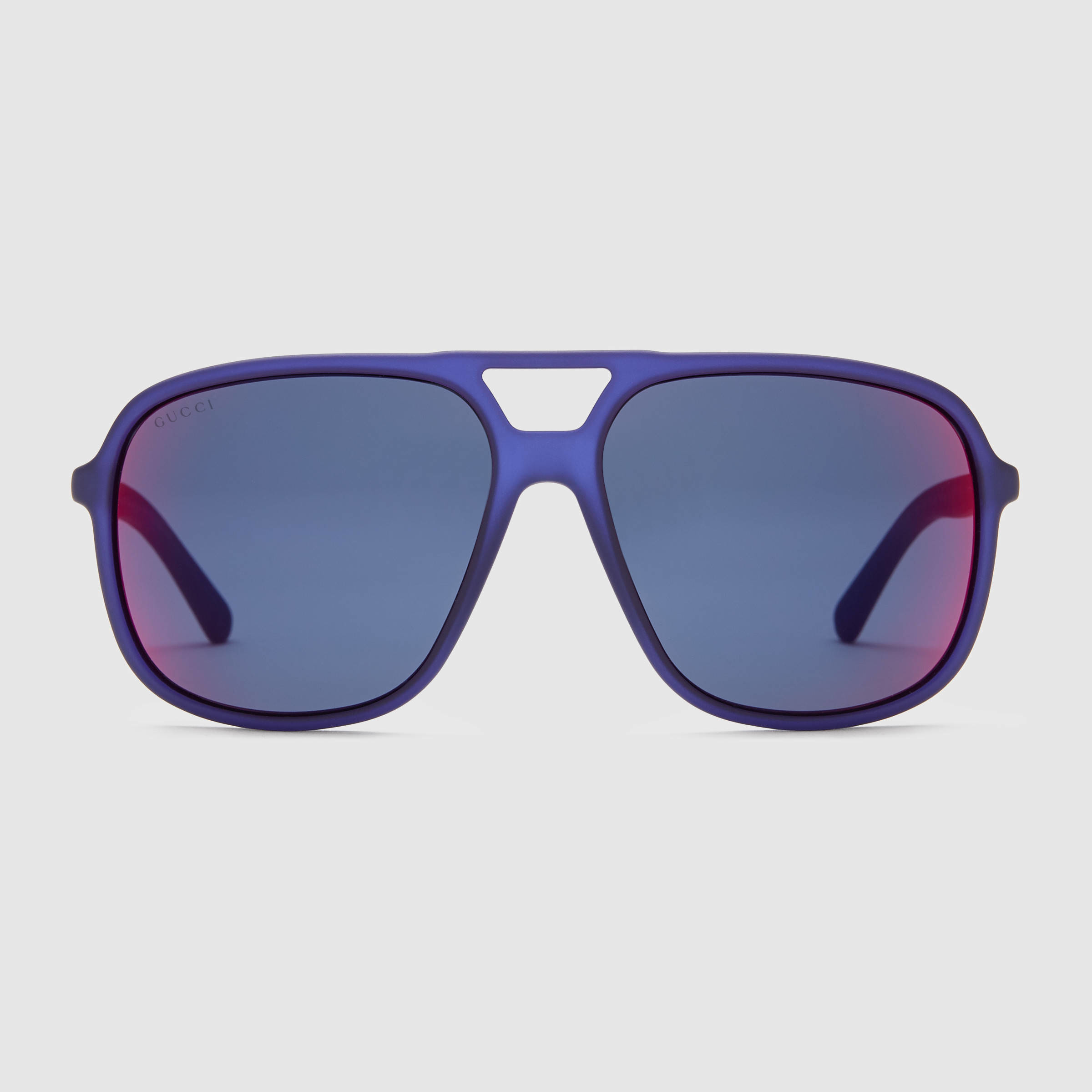 6c5025ed516 Lyst Gucci Injected Aviator Sunglasses In Blue For Men