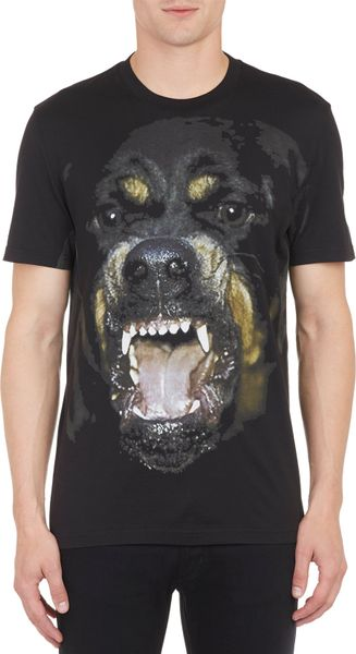 Givenchy Rottweiler Graphic T Shirt In Multicolor For Men