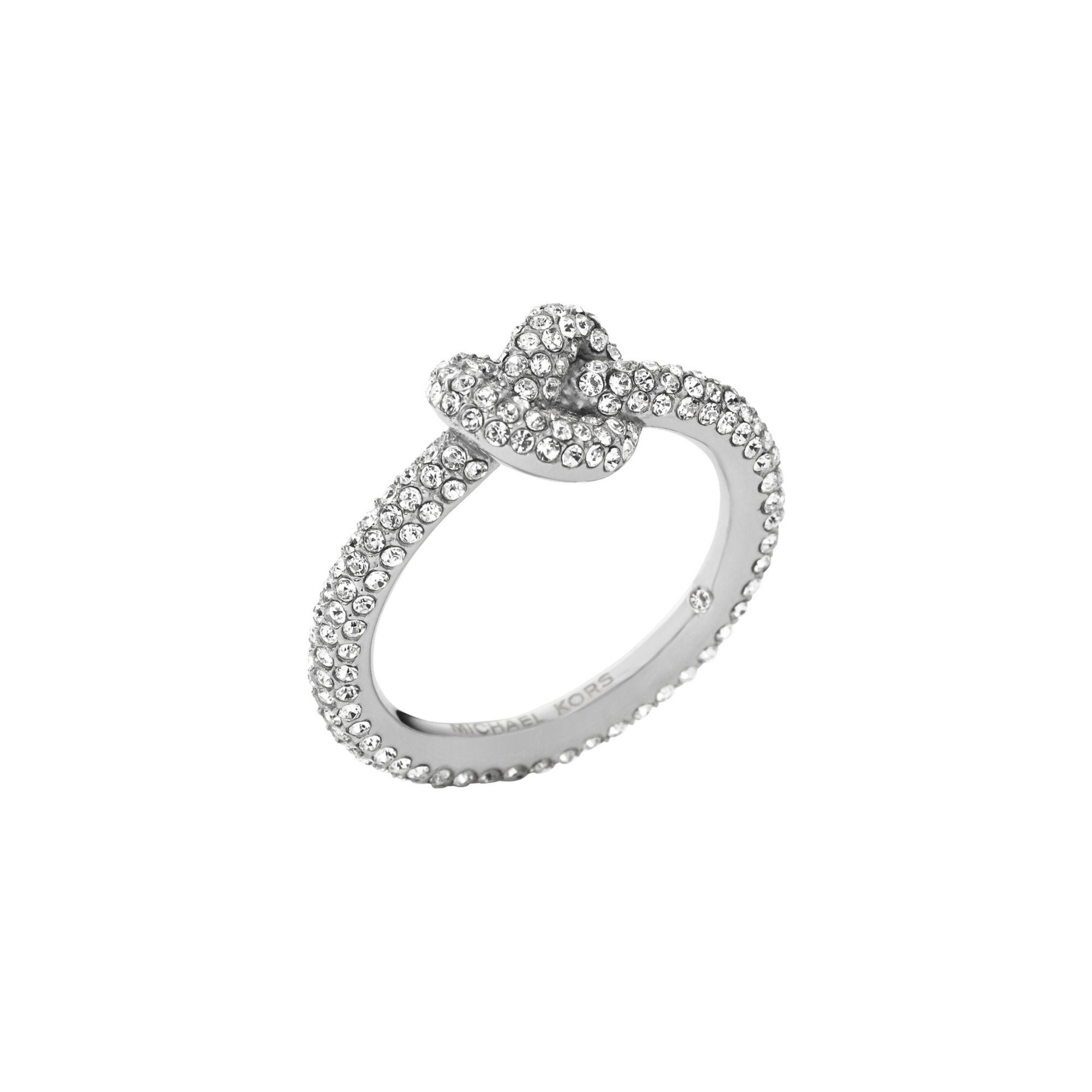 ring knot eternity cz engagement pave jewelry silver bling infinity love diamond yc band sterling