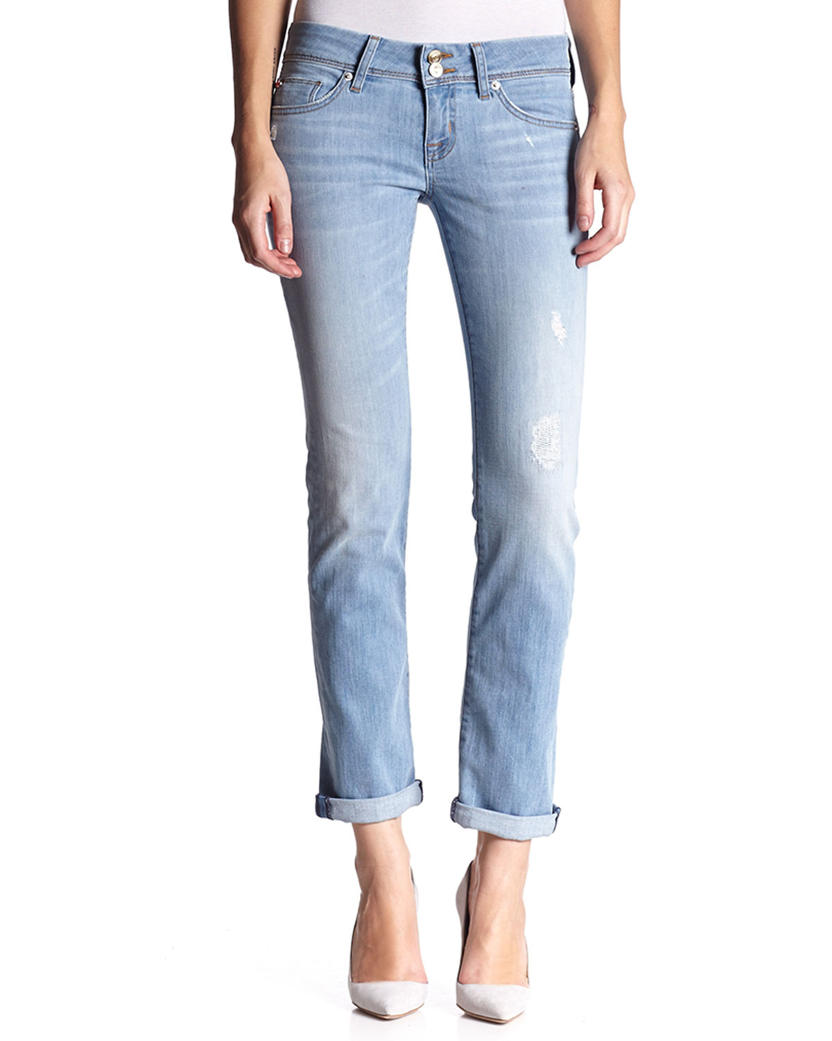 971964b162f Hudson Jeans Ginny Low-rise Crop Ankle Jeans in Blue - Lyst