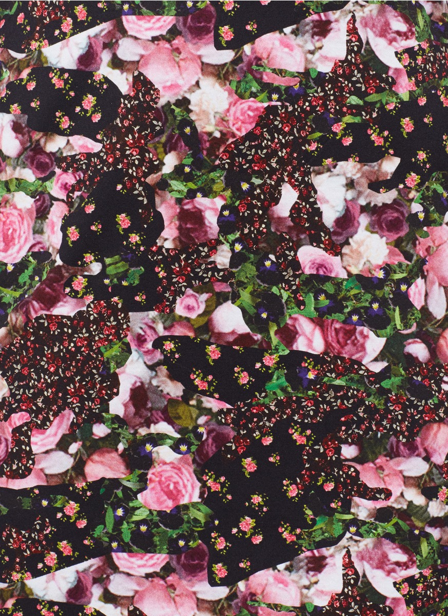 Lyst Givenchy Floral Print Dress