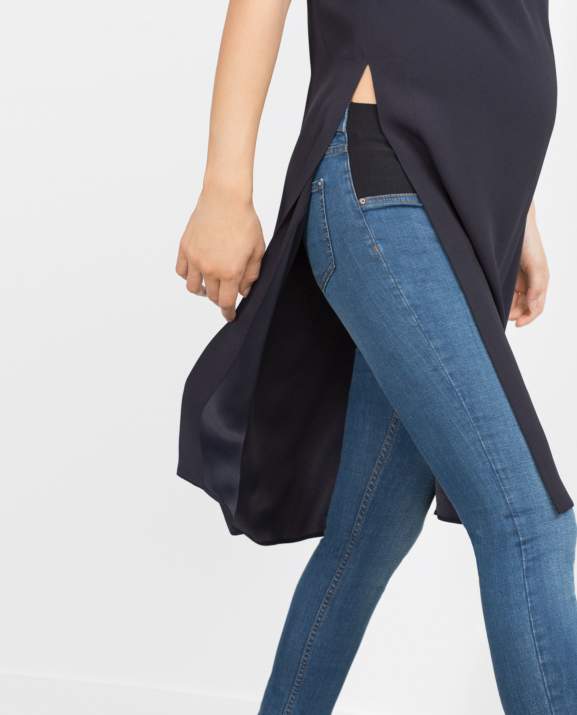 Zara Faded Maternity Jeans in Blue | Lyst