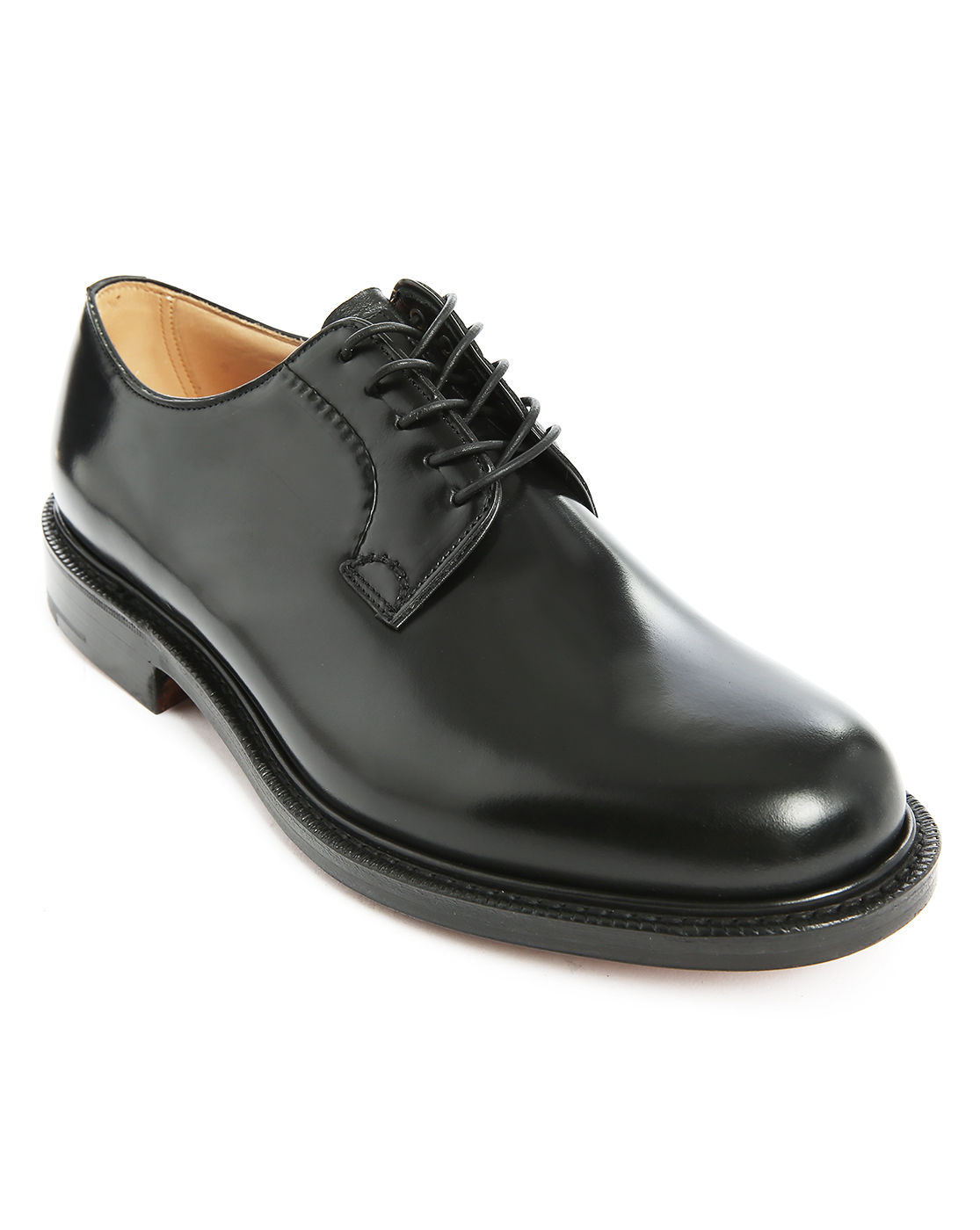 church s shannon polished black leather derby shoes in