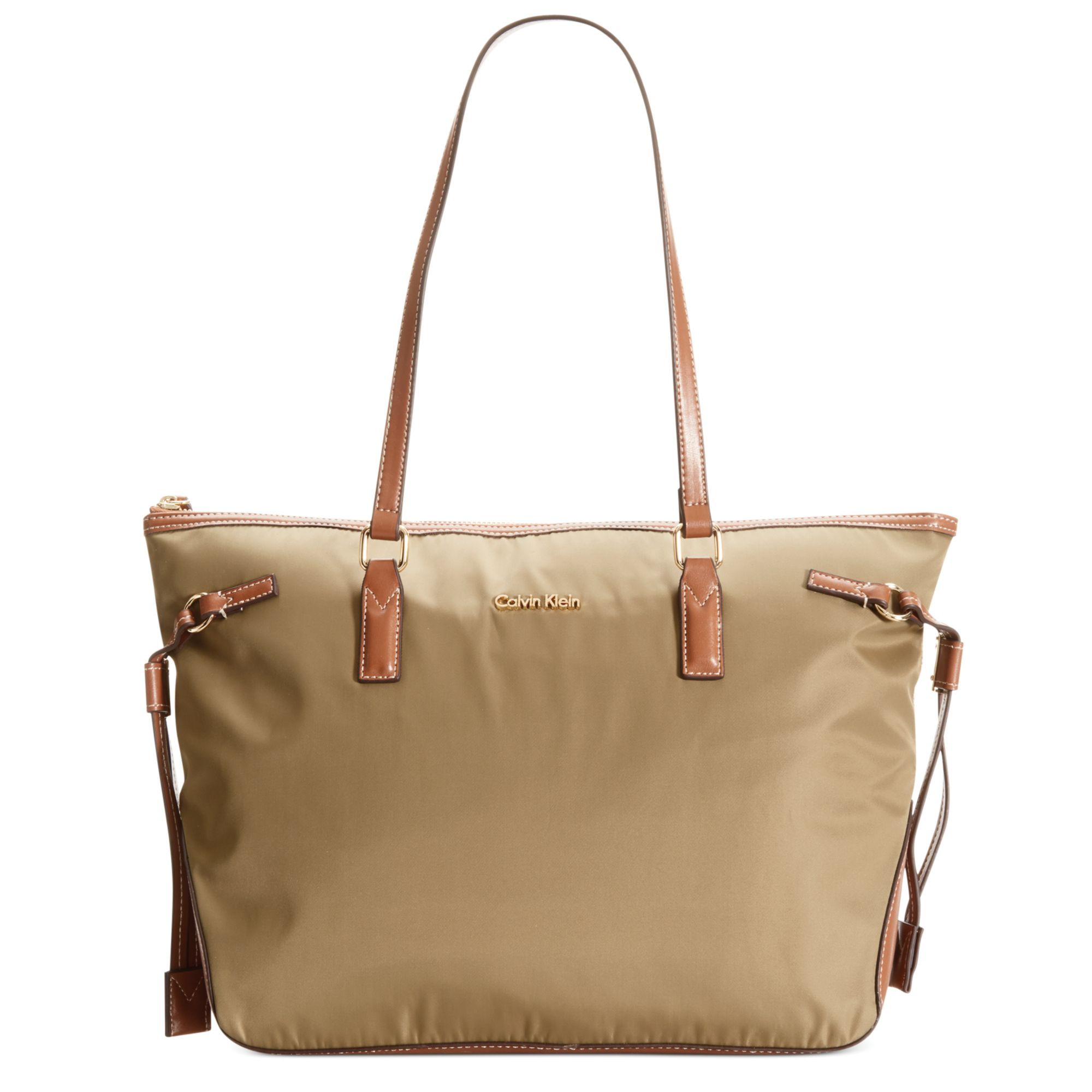 d5cf861a1 Calvin Klein Bristol Dressy Nylon Tote in Natural - Lyst