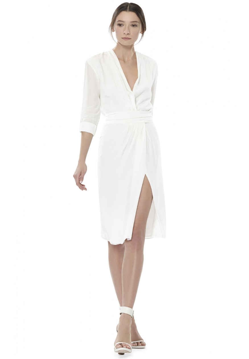 White Wrap Dress All Dress
