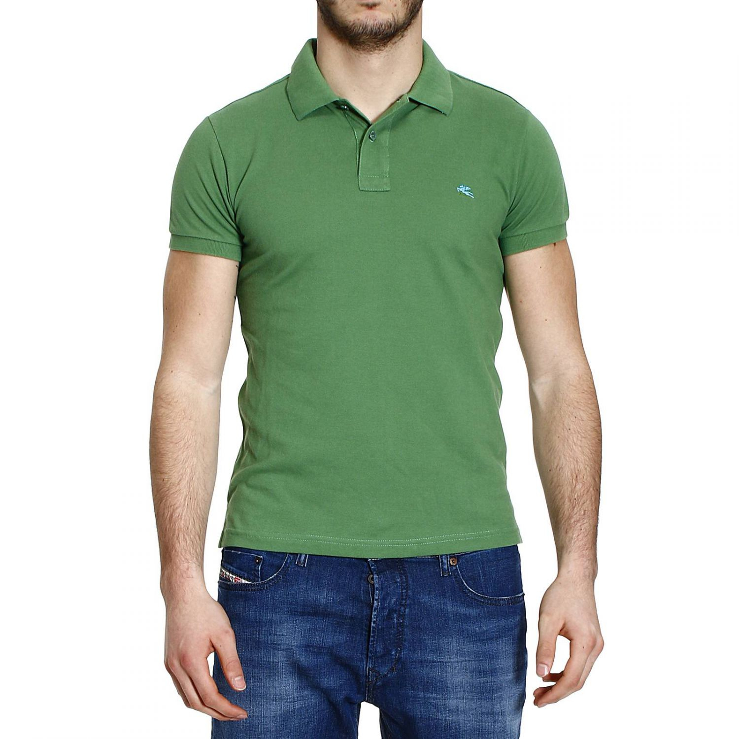 Etro t shirt polo half sleeve nido d 39 ape sotto french or for Full sleeve polo t shirts