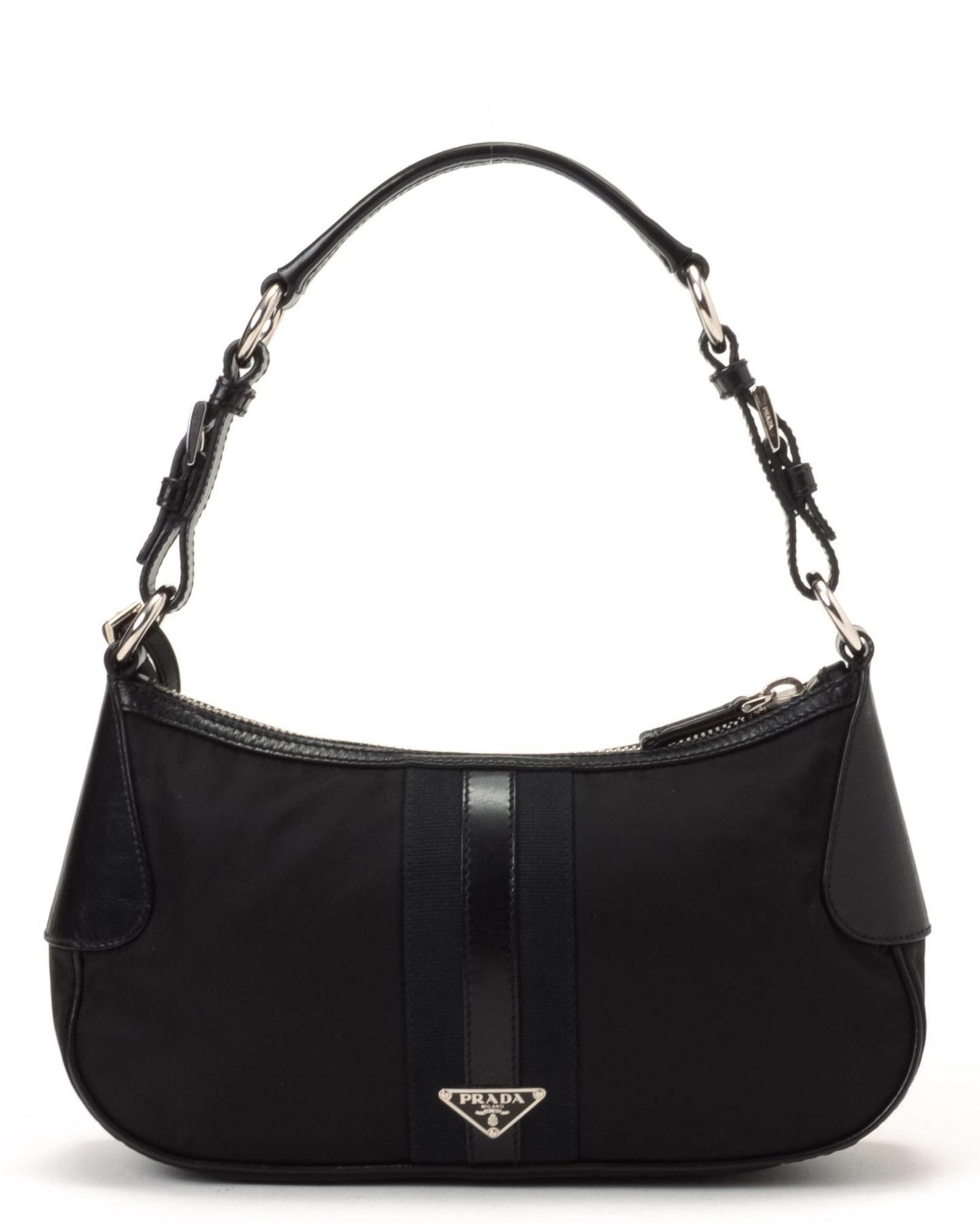 Prada Tessuto Shoulder Bag - Vintage in Black | Lyst