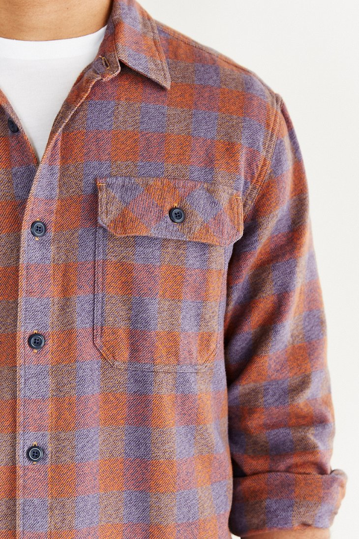 Patagonia Fjord Flannel Button Down Shirt In Purple For