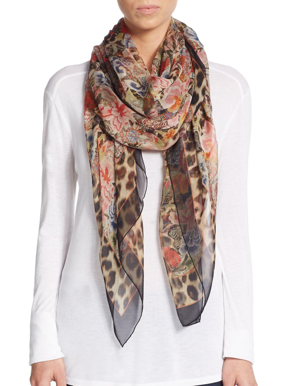 Floral-printed scarf Alexander McQueen 2FEOTR1lwY