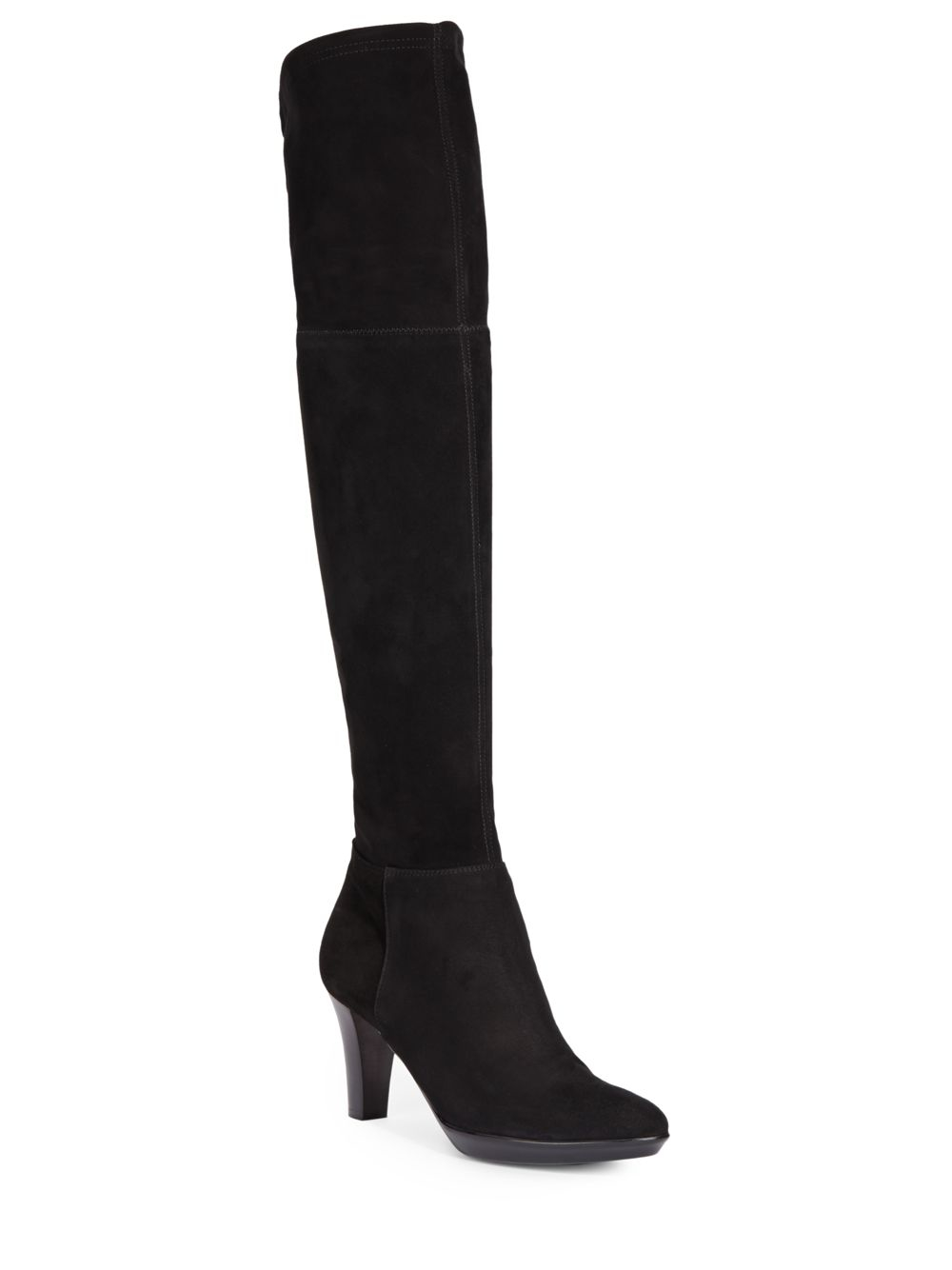 aquatalia suede thigh high boots in black lyst