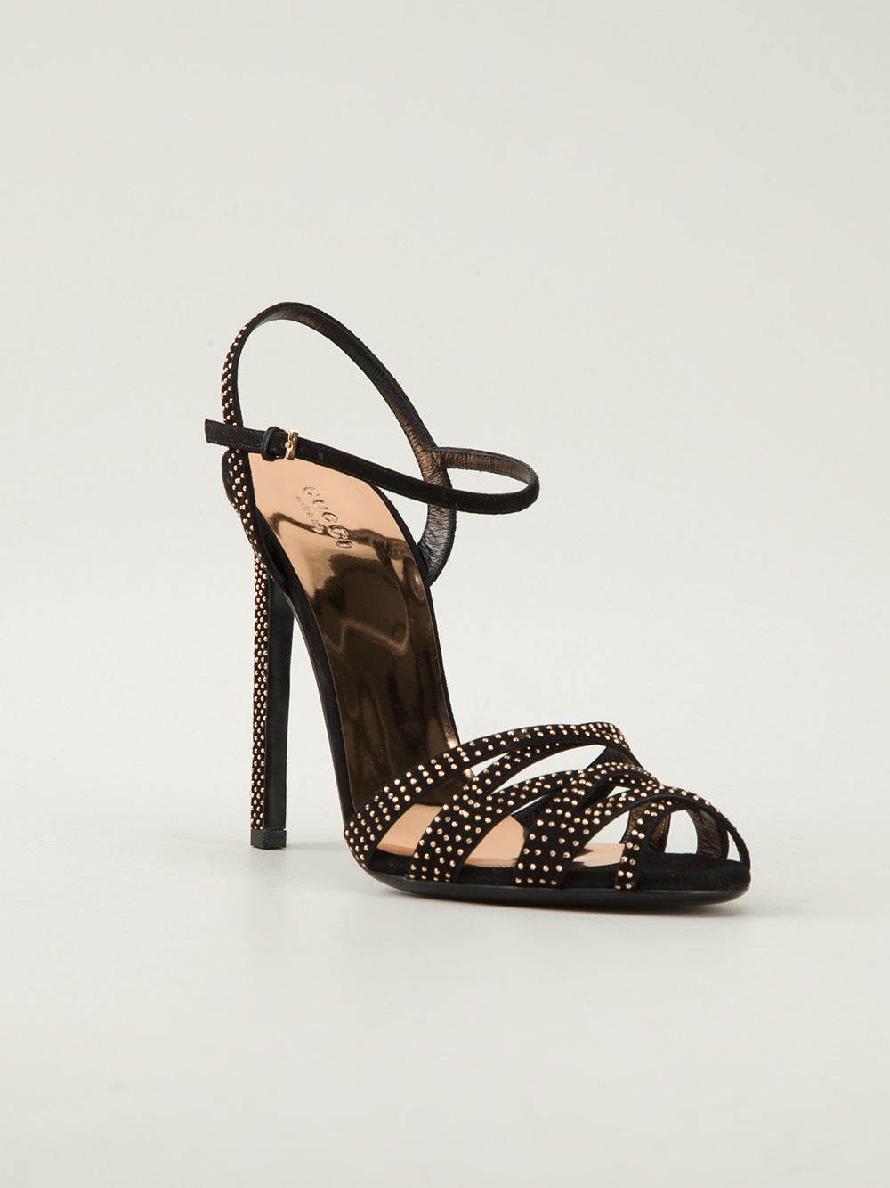 gucci high heel sandals in black lyst. Black Bedroom Furniture Sets. Home Design Ideas