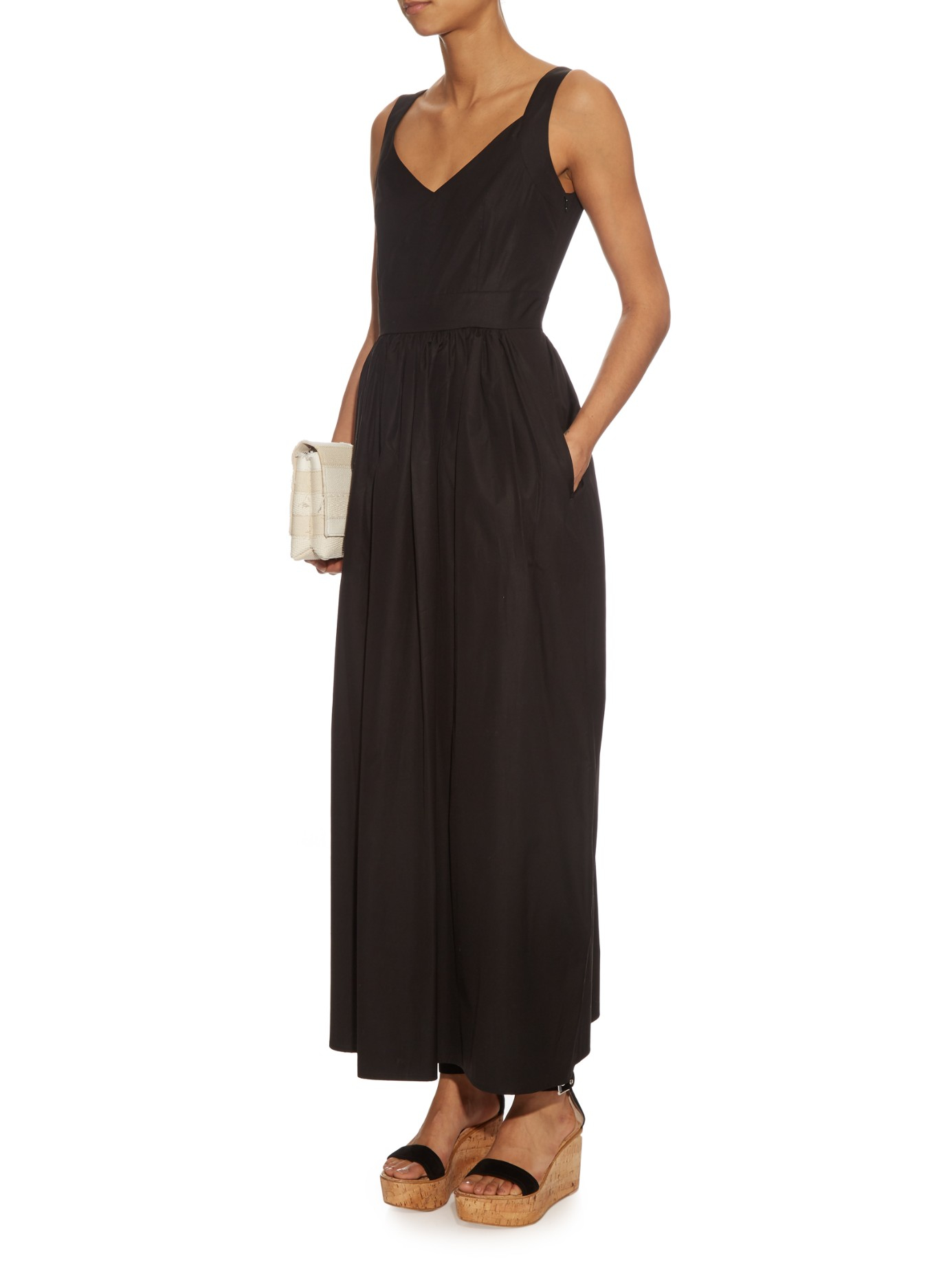 max mara studio rosa dress in black lyst. Black Bedroom Furniture Sets. Home Design Ideas