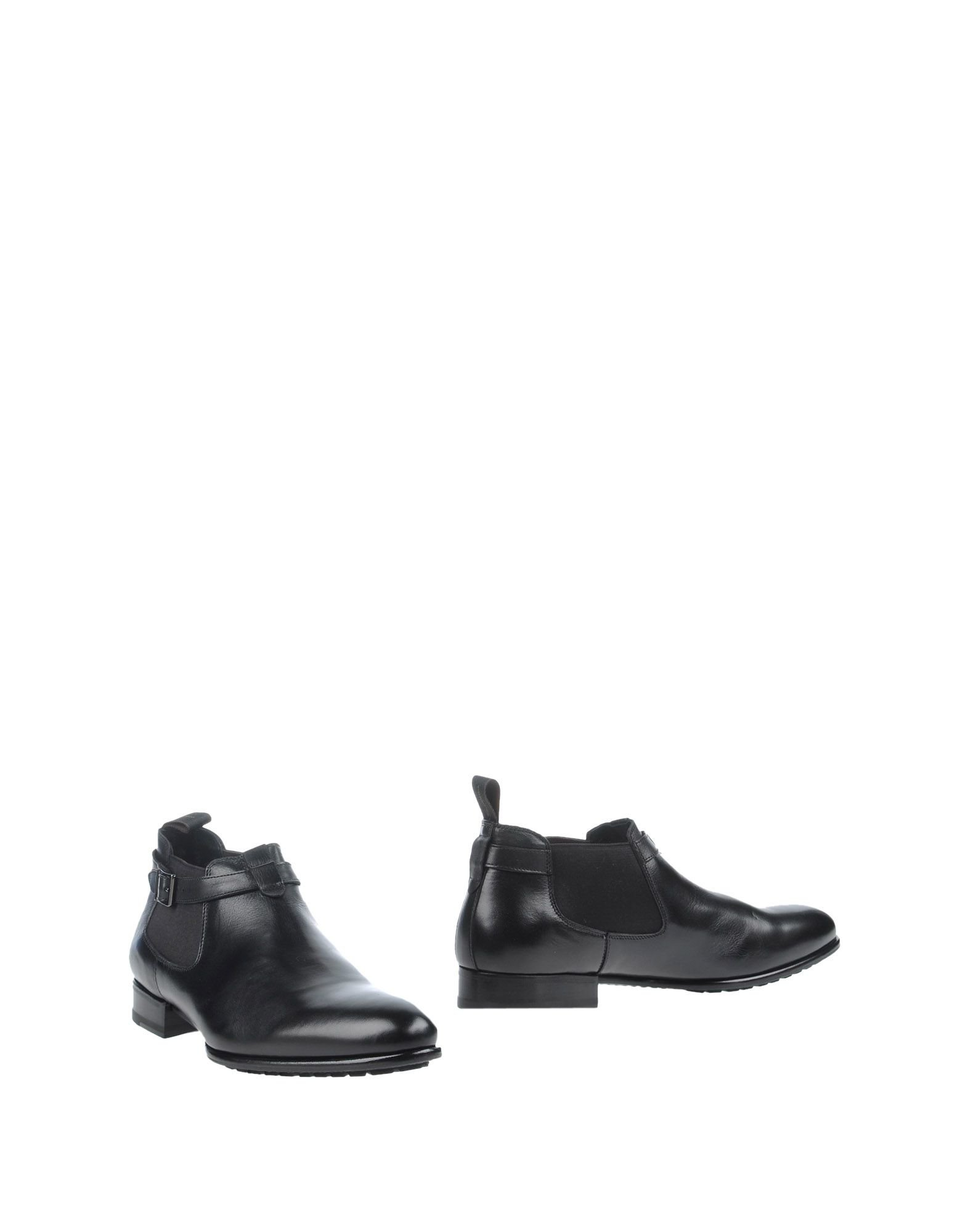santoni ankle boots in black for lyst