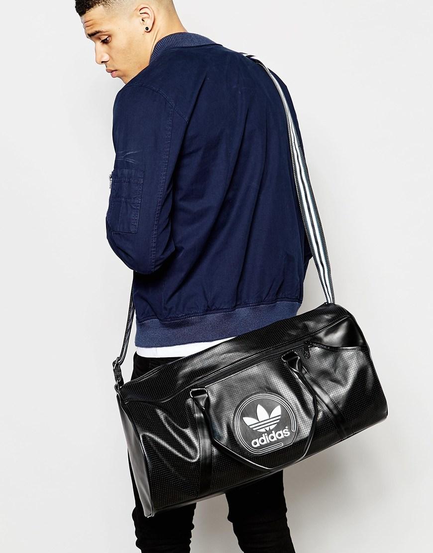 c6f8ed720e Lyst - adidas Originals Perforated Duffle Bag in Black for Men