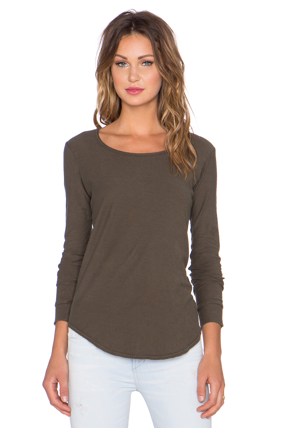 Citizens Of Humanity Ellie Long Sleeve T Shirt In Green Lyst