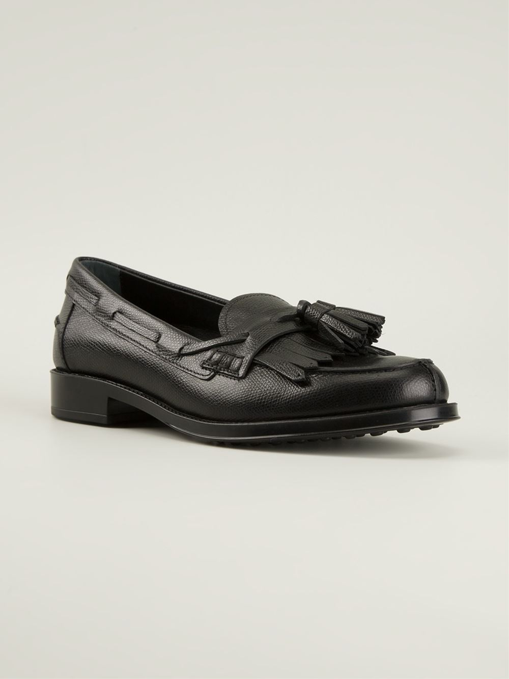 Black loafers with tassels Tod's 88xia
