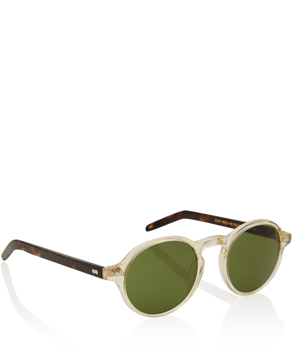 9901d90778 Moscot Clear Glick Acetate Sunglasses in Green - Lyst