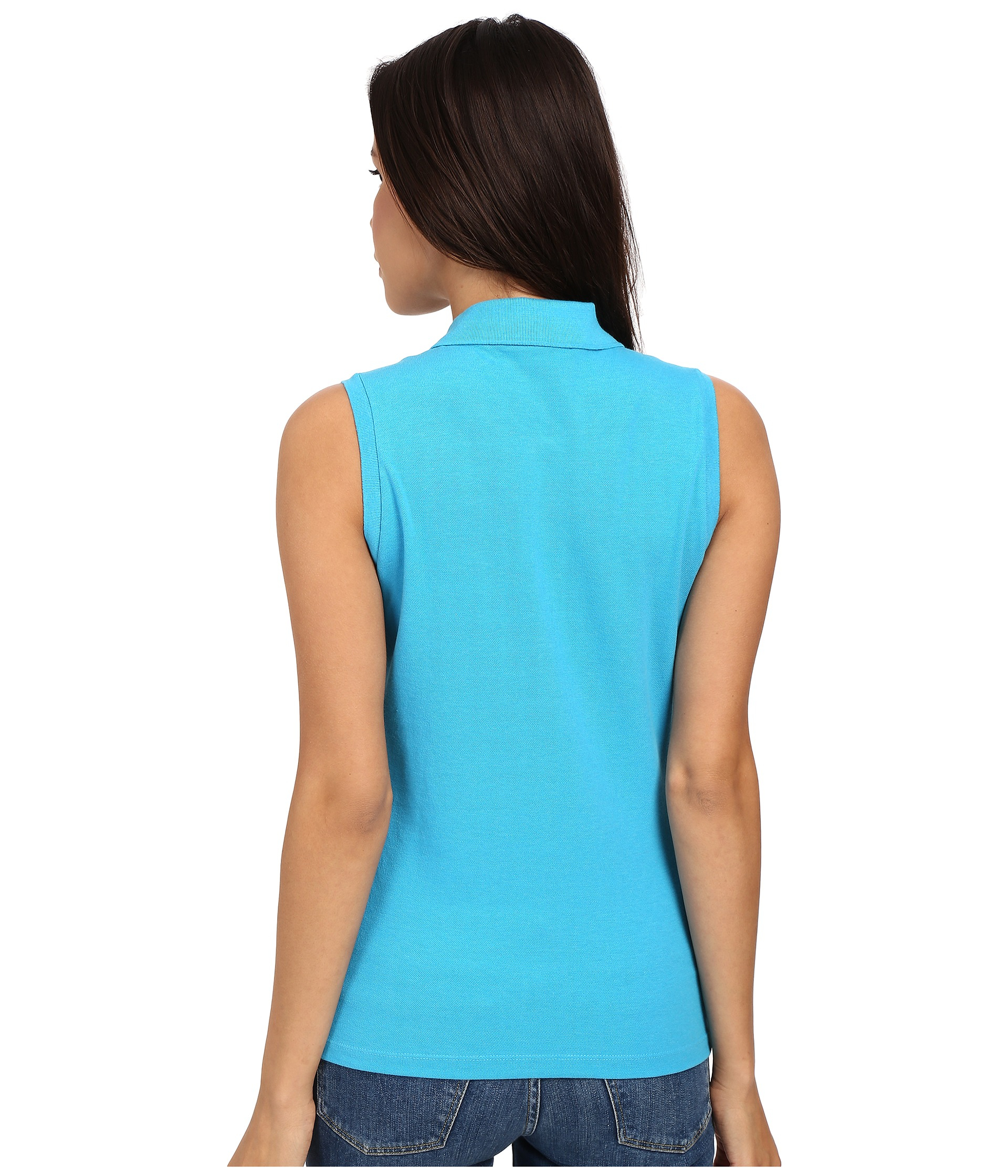 Lyst Sleeveless Shirt Polo In Pique Slim Stretch Blue Lacoste Fit TTOrq