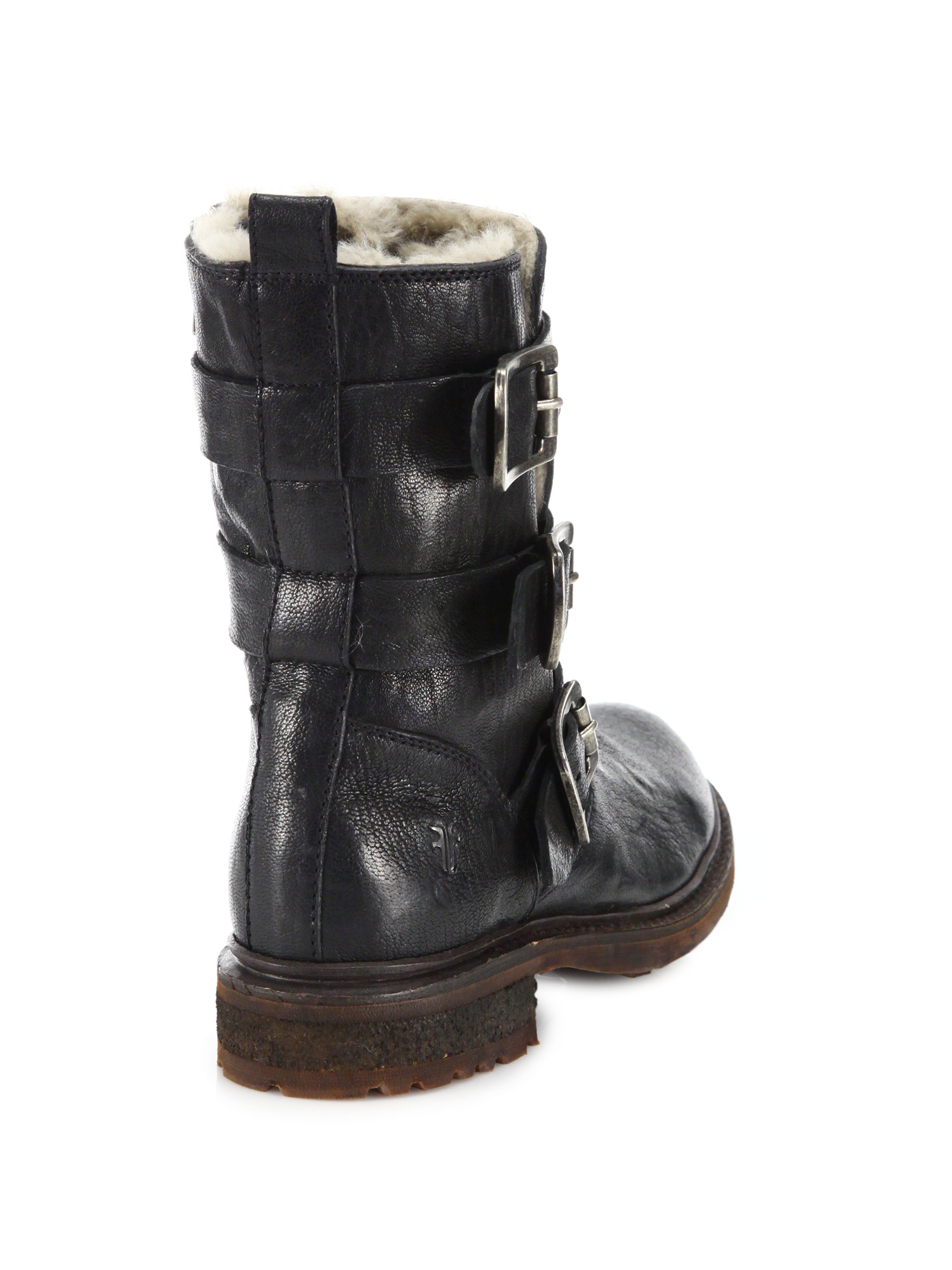 Frye Leather Moto Boots buy cheap looking for buy cheap clearance official cheap price free shipping wholesale price 100% original bi7V68zLJ