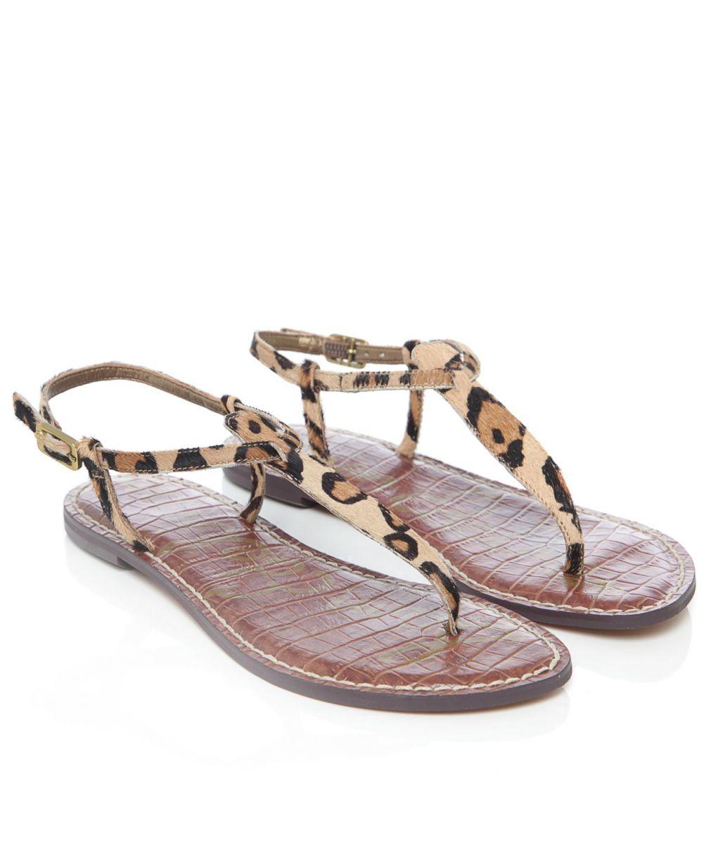 27b40b5ec7a5 Lyst - Sam Edelman Gigi Leopard Print Sandals
