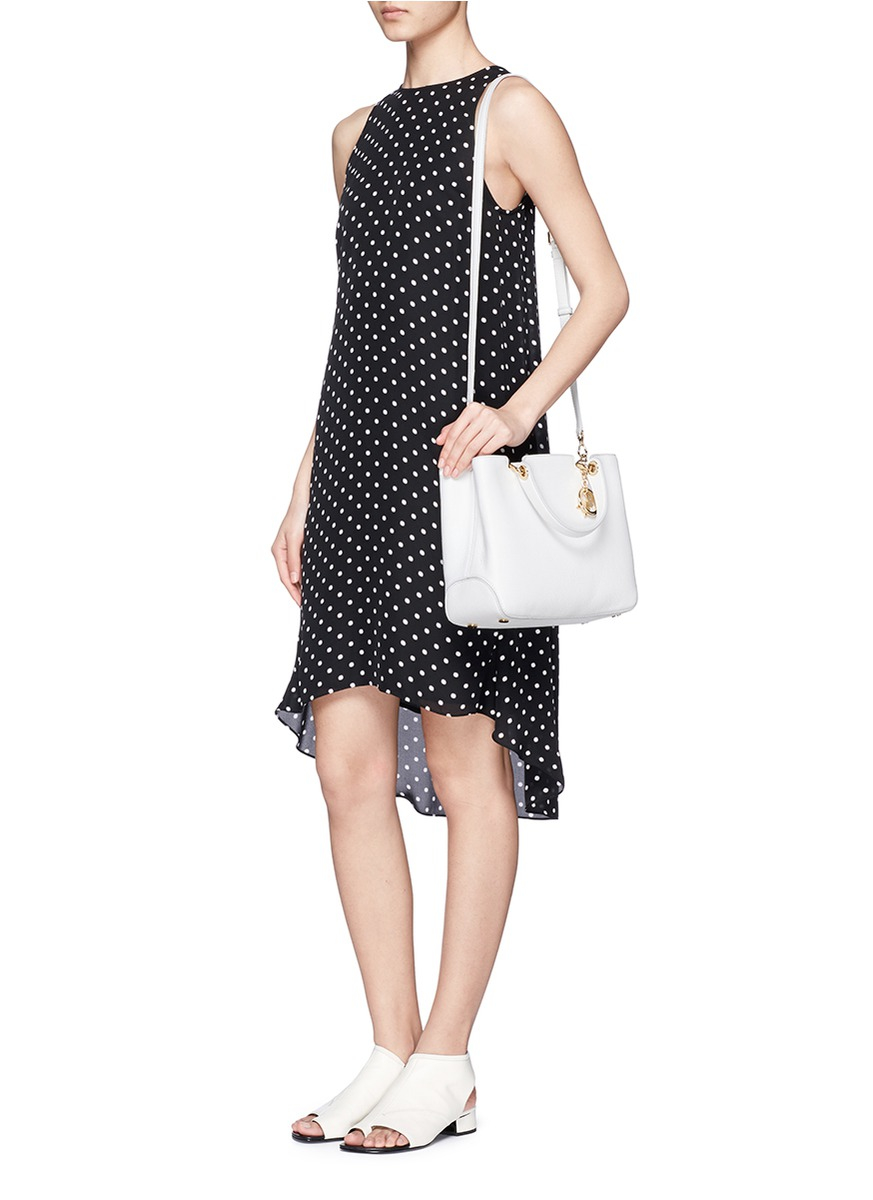 c34d363b1035 Lyst - Michael Kors  anabelle  Medium Leather Top Zip Tote in White