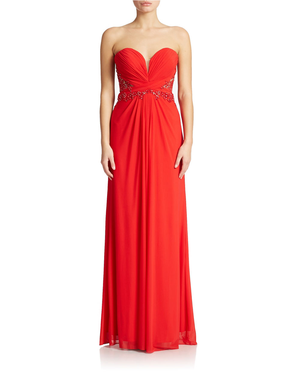 4f66838b28b7 Xscape Red Dress Lord And Taylor