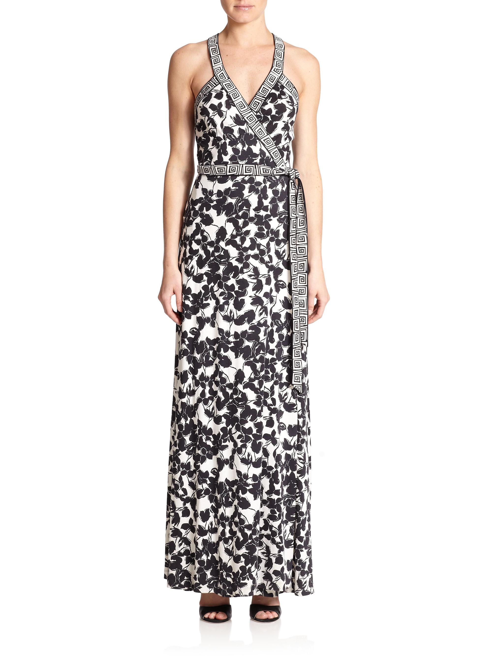 Diane Von Furstenberg Samson Silk Jersey Wrap Maxi Dress