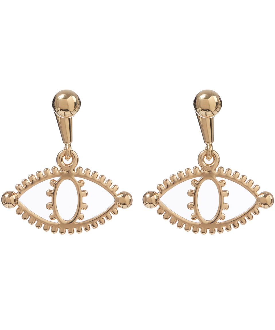 488938775 Chloé Gold Izzy Eye Charm Earrings in Metallic - Lyst
