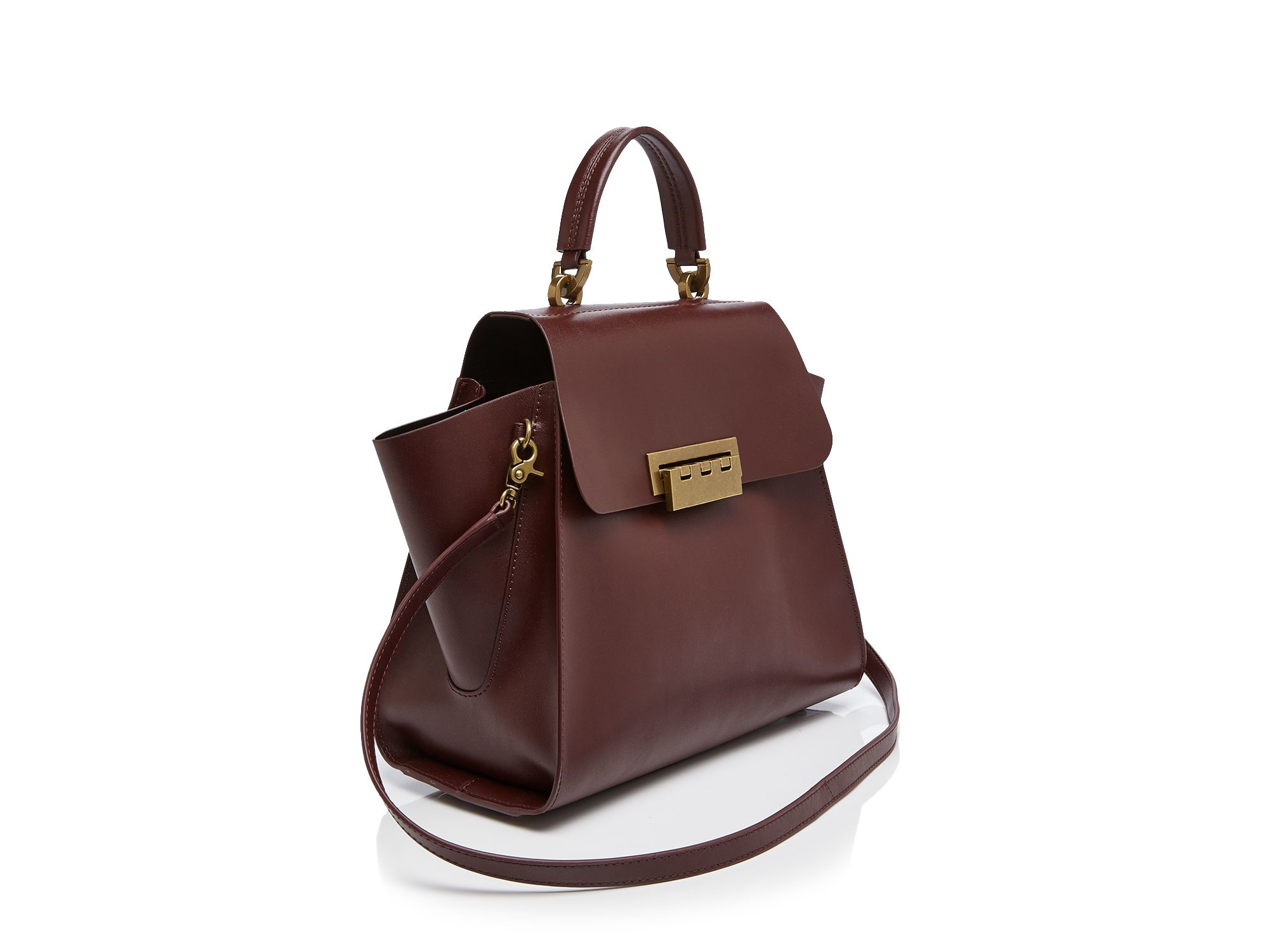 Lyst Zac Zac Posen Eartha Iconic Top Handle Satchel In Brown
