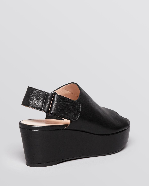 stuart weitzman open toe platform wedge sandals offset in
