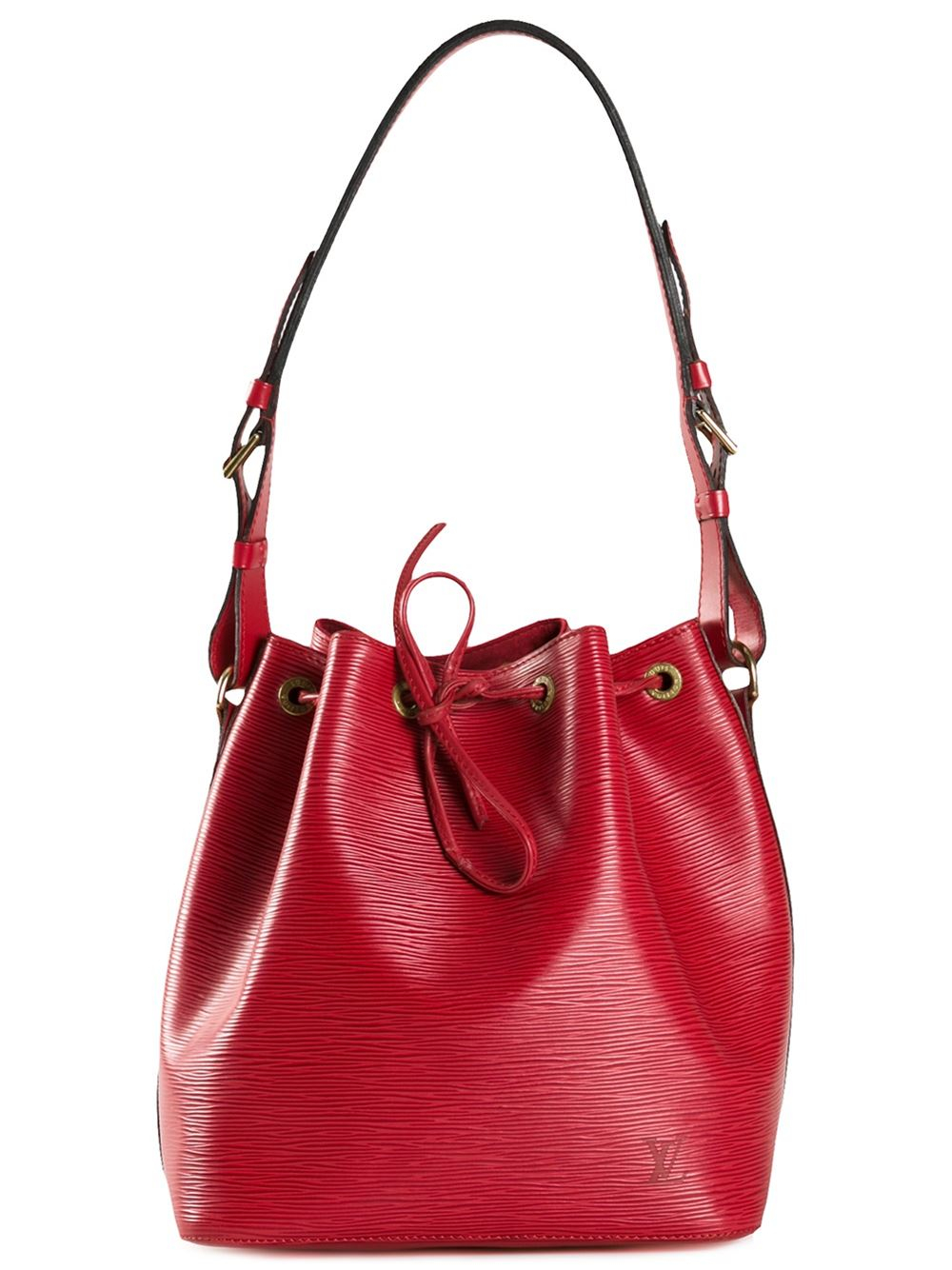 louis vuitton noe small shoulder bag in red lyst
