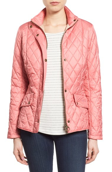 Barbour Millfire Quilted Jacket Rose