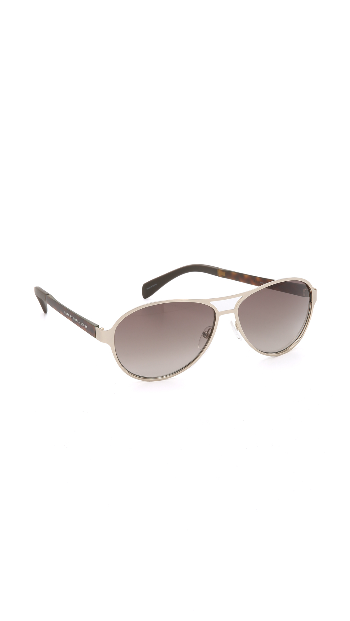 6ddc8c460 Marc By Marc Jacobs Aviator Sunglasses - Gold Havana/brown Gradient ...