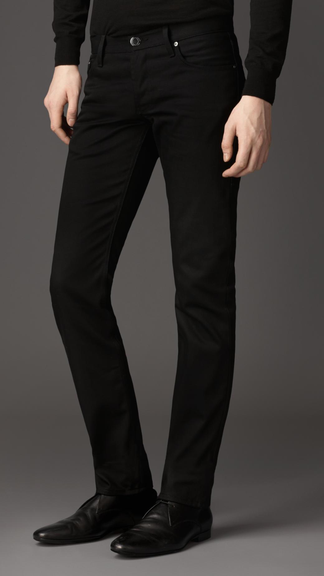 61934529 Burberry Steadman Black Slim Fit Jeans in Black for Men - Lyst