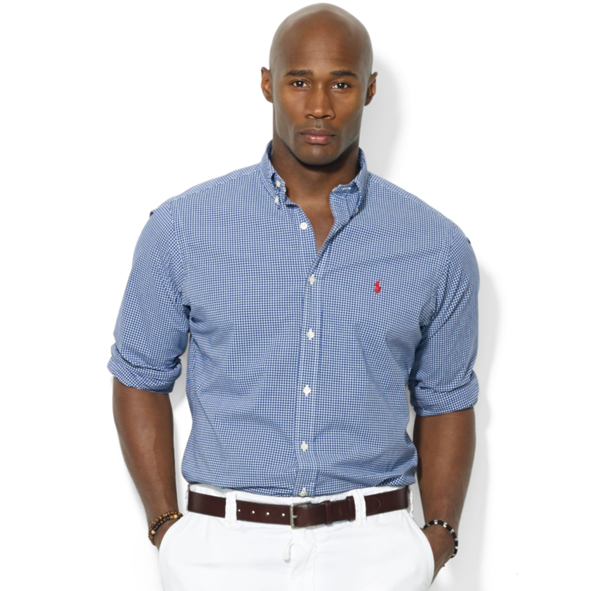 Polo Ralph Lauren Polo Big And Tall Gingham Checked Poplin