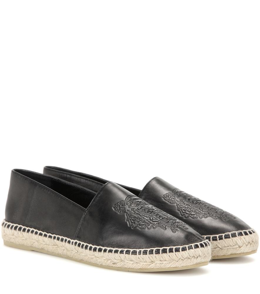 Kenzo Black Leather Slides VqO9rslkdV