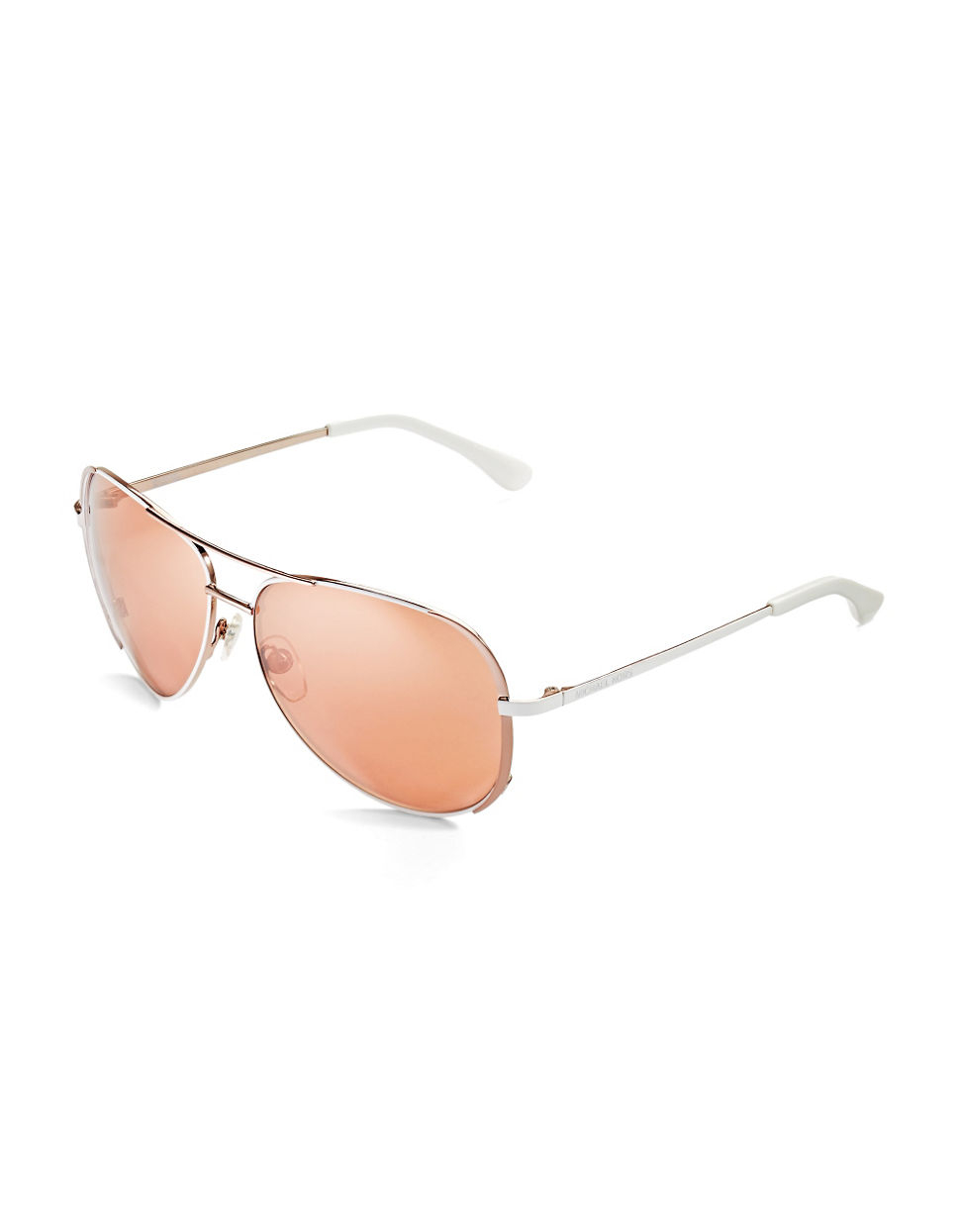 b07a7049edc Lyst - Michael Michael Kors Sicily Flash Sunglasses in Pink