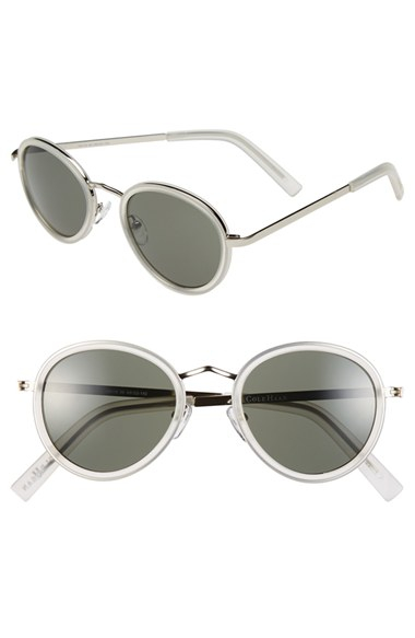 699cfd23acd Lyst - Cole Haan 48mm Round Sunglasses - Crystal in Gray