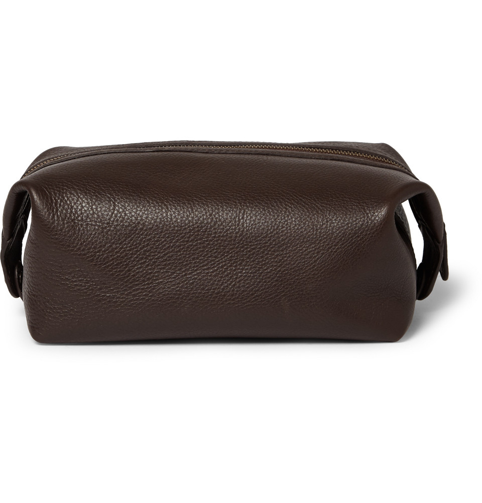 Polo Ralph Lauren Leather Wash Bag in Brown for Men - Lyst feadce5663c60