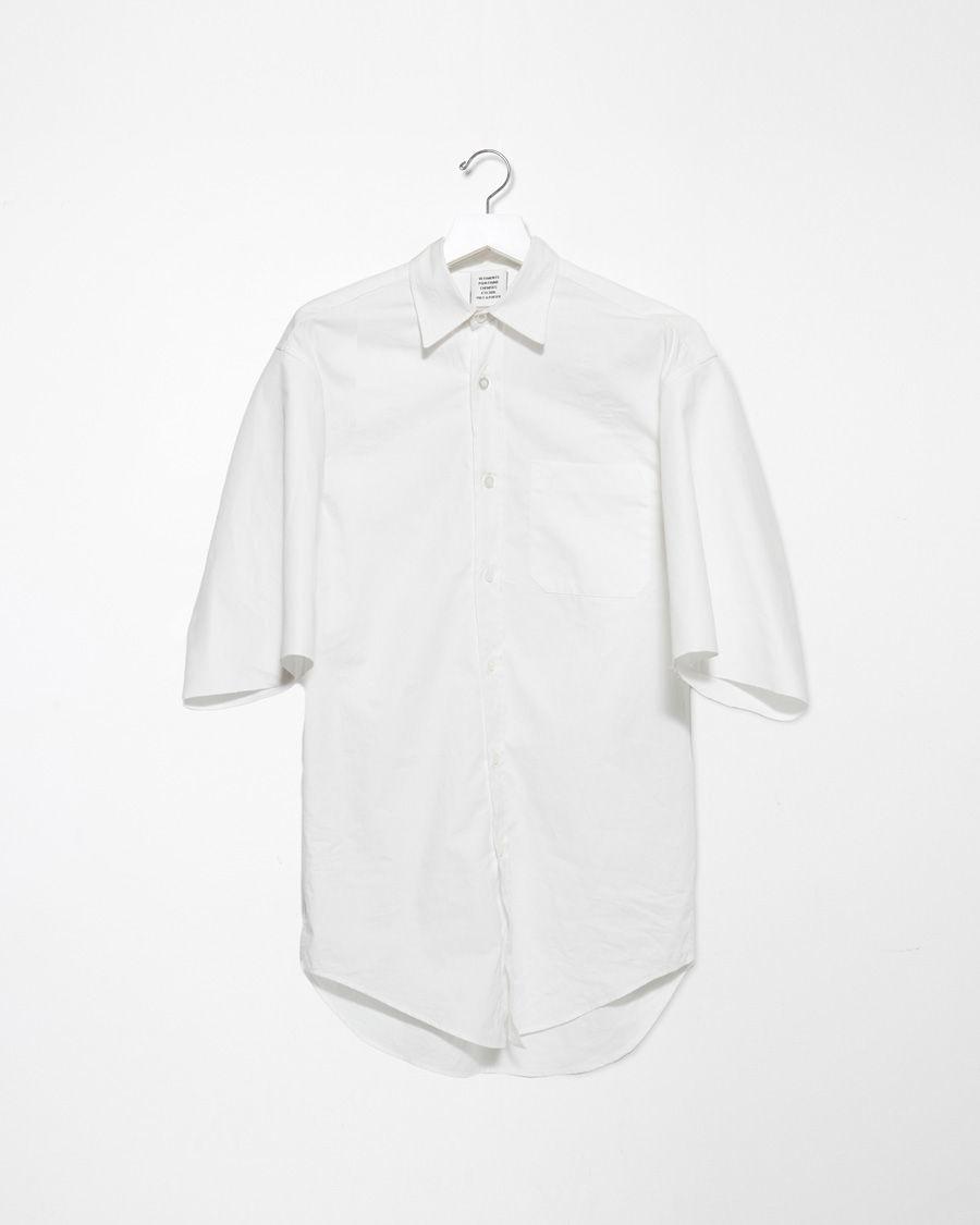 Lyst Vetements Short Sleeve Button Up Shirt In White