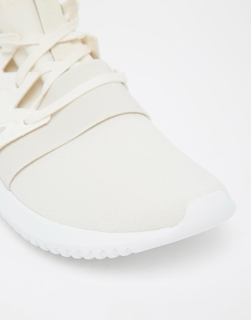 buy online 1bfdb 8c8f0 Adidas Originals - Natural Originals Chalk White Tubular Viral Trainers -  Lyst
