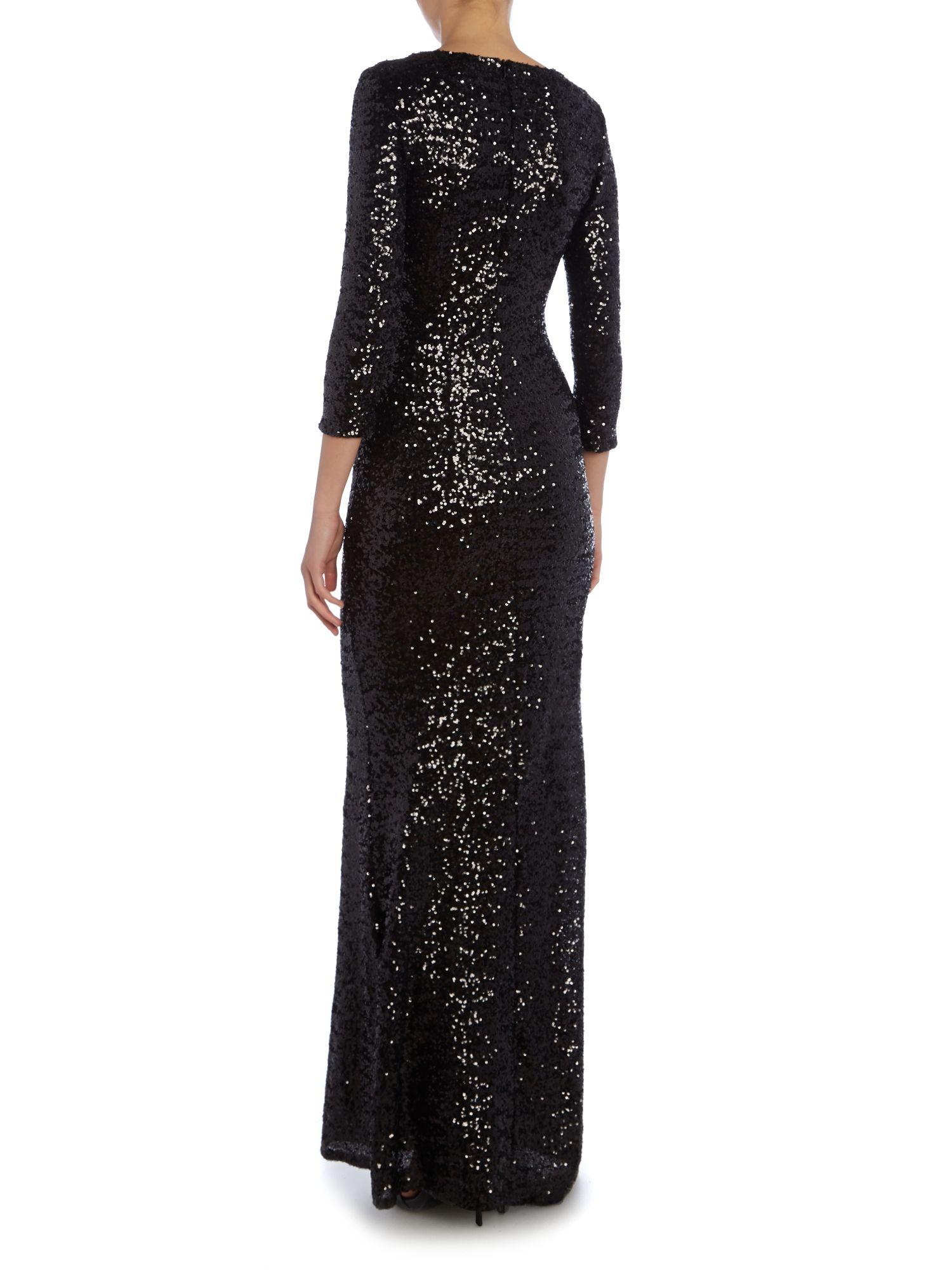 Black dress house of fraser -  Long Sleeve Maxi Dress House Of Fraser