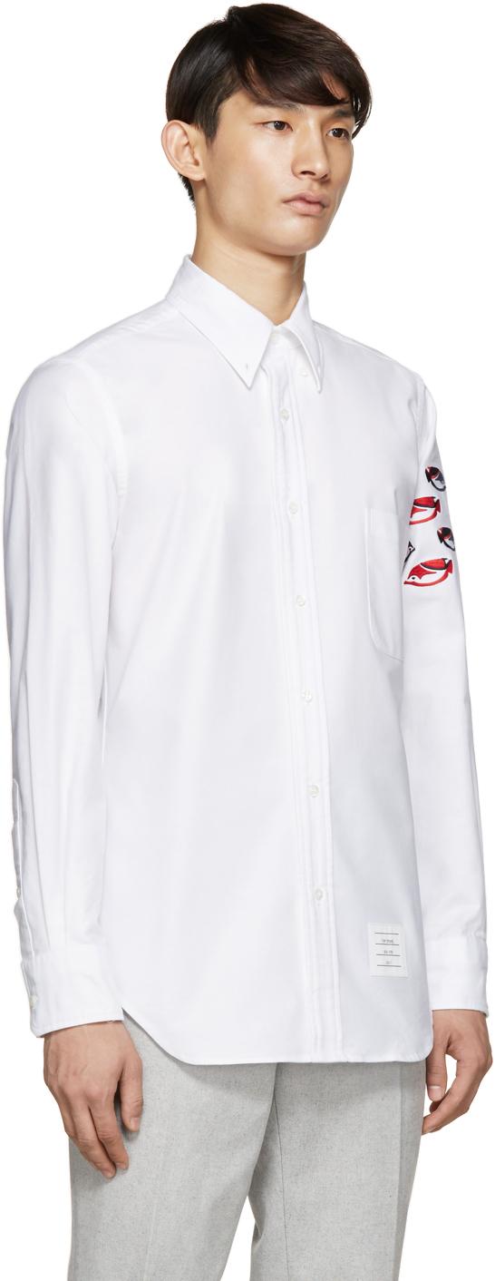 Thom browne white oxford fish shirt in white for men lyst for Thom browne white shirt