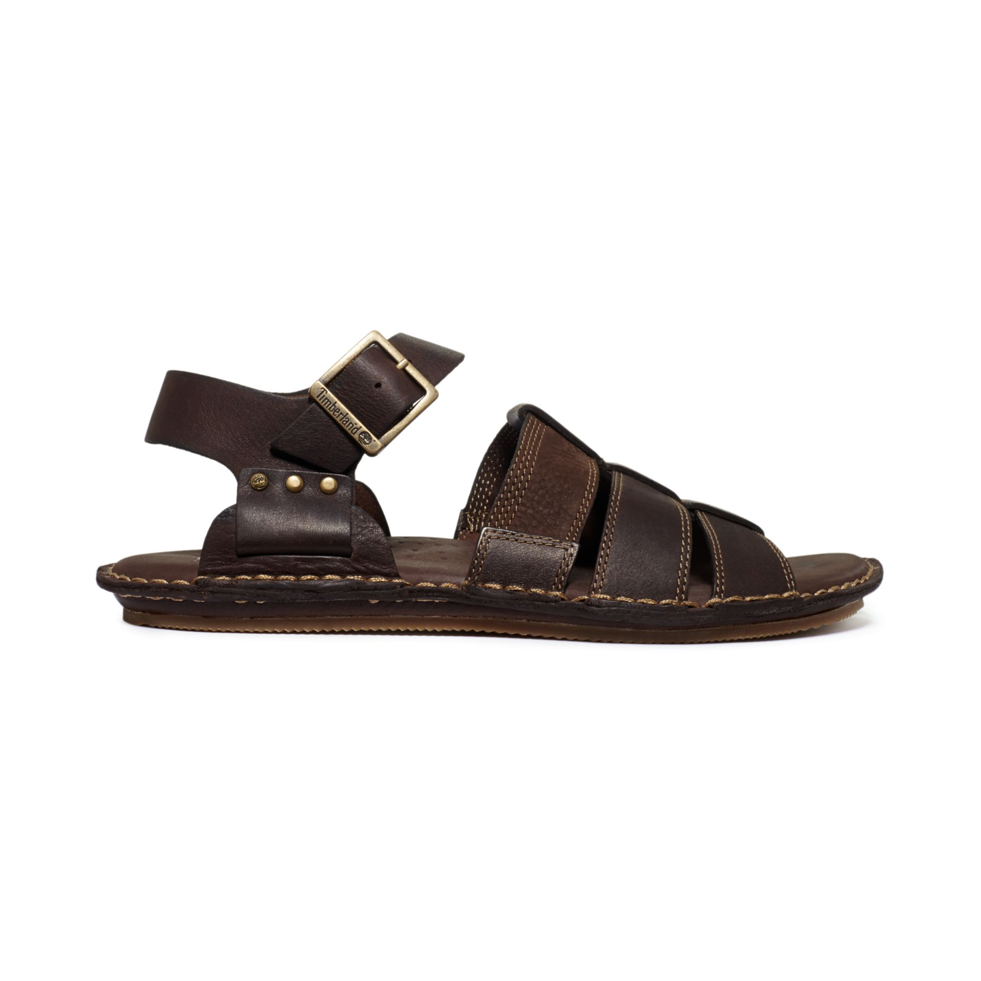 Lyst Timberland Harbor Point Fisherman Sandals In Brown