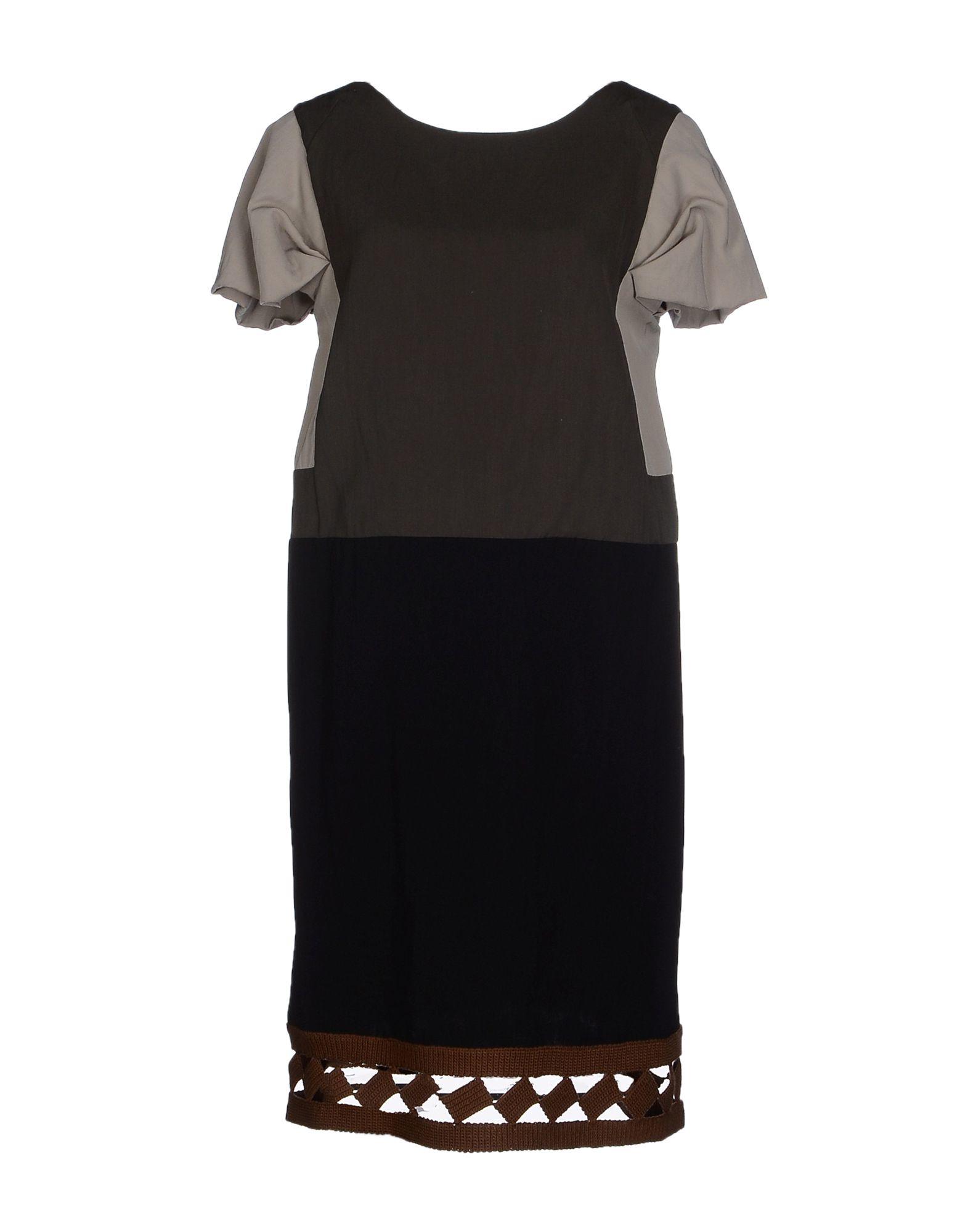 Marni Knee Length Dress In Gray Lyst