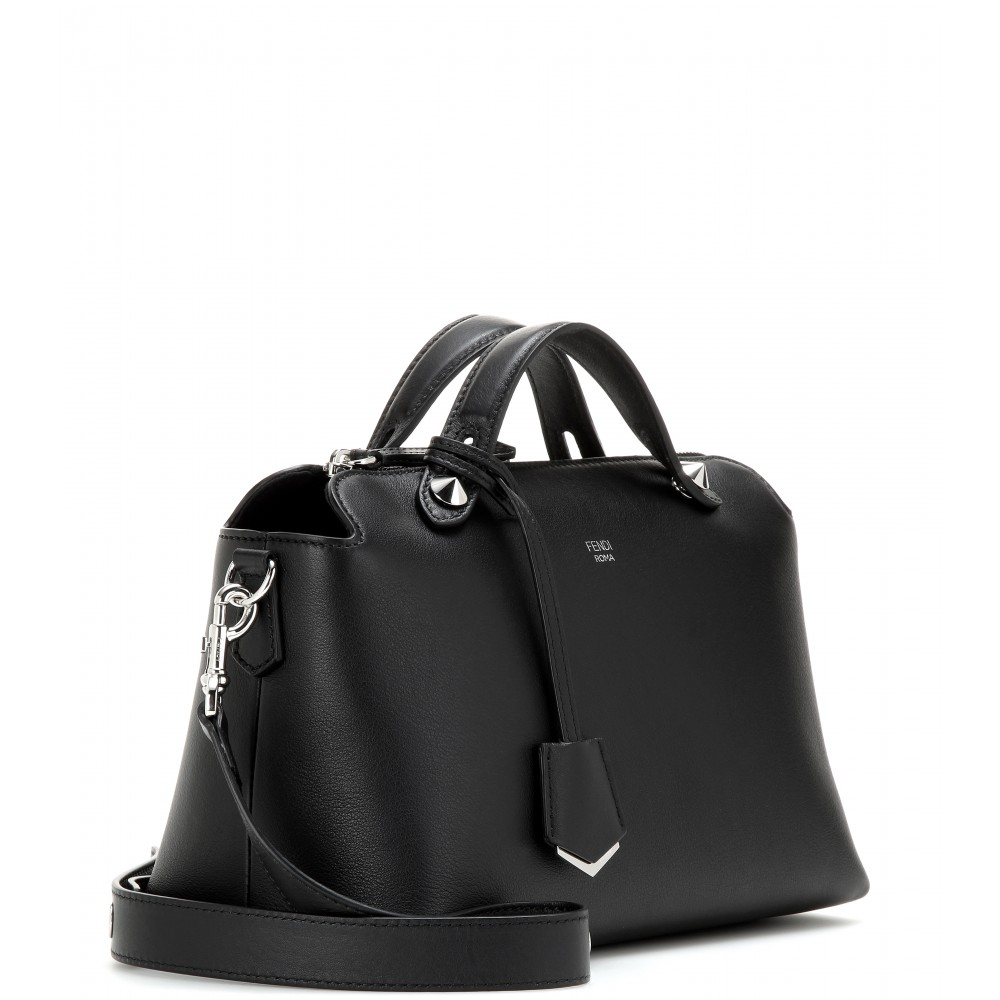 Fendi By The Way Small Leather Shoulder Bag In Black Lyst