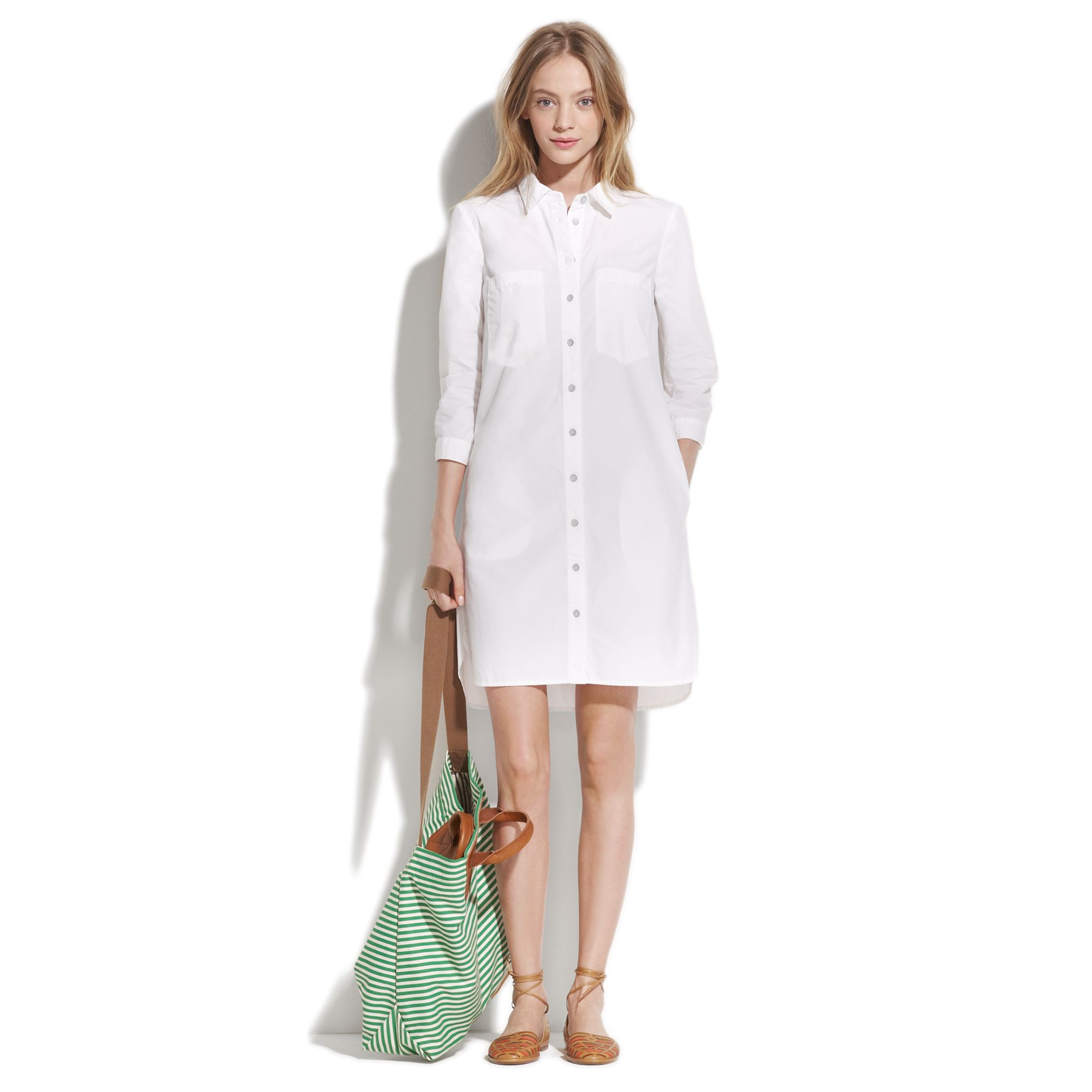 694e27ade4f Madewell Parkfield Shirtdress in White - Lyst