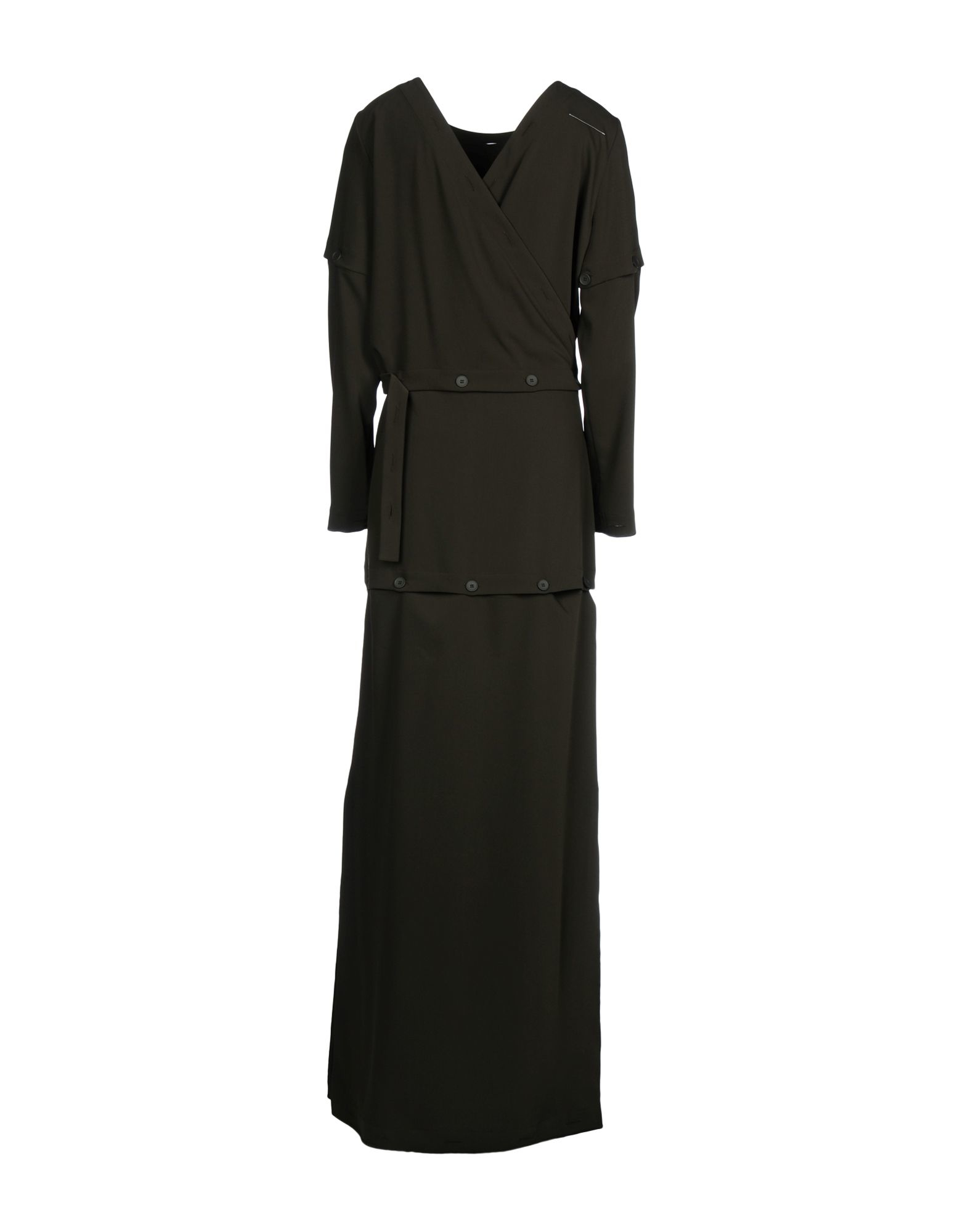 Mm6 by maison martin margiela long dress in green for Mm6 maison margiela