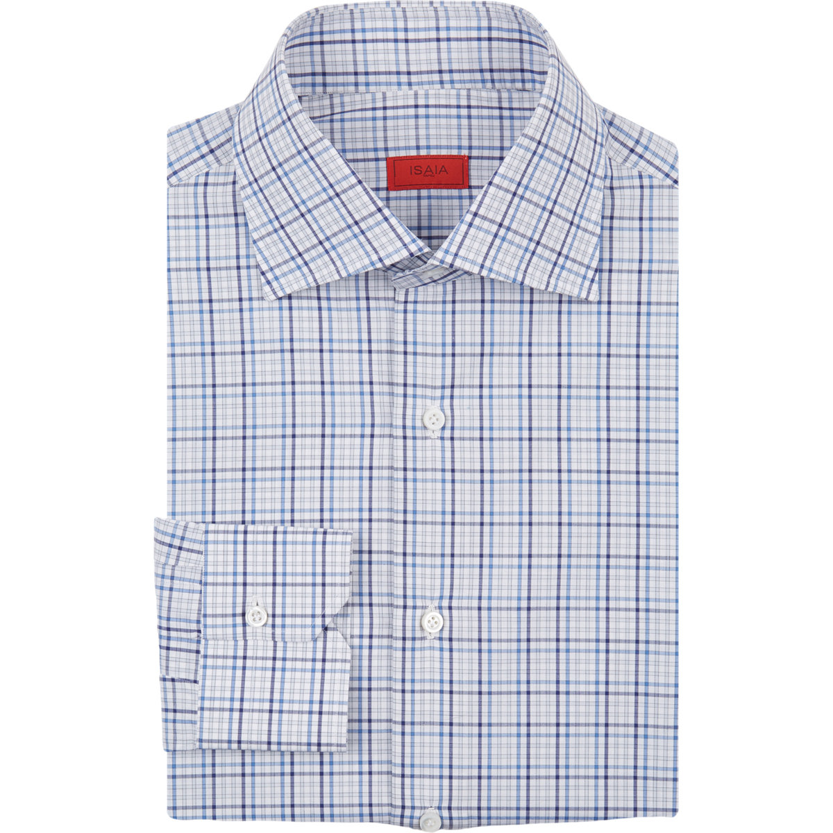 Lyst Isaia Plaid Dress Shirt In Blue For Men