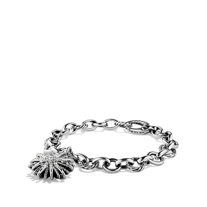 David Yurman Charm Bracelet: David Yurman Charm Bracelet With Diamonds In Metallic